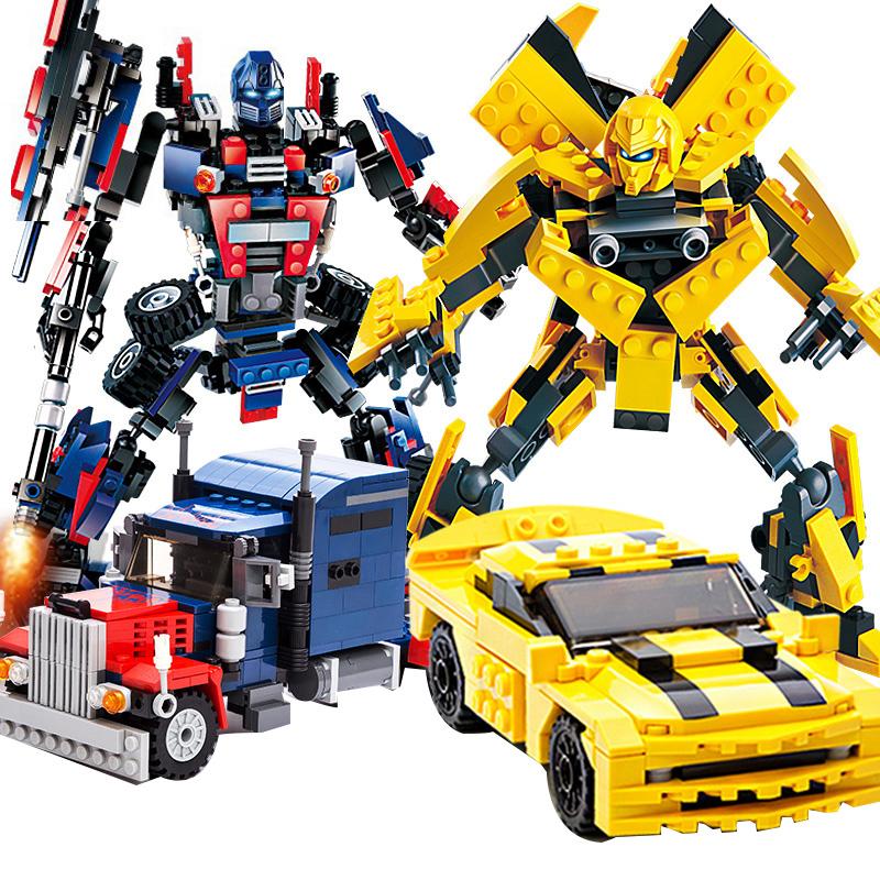 儿童变形金刚机器人大黄蜂积木拼装插玩具益智力小男孩礼物legao_天猫超市优惠券