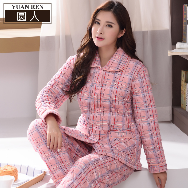 Plus cotton pajamas winter cotton padded thick warm thick middle-aged  mother Cotton three-. Zoom · lightbox moreview · lightbox moreview ... df05bec45