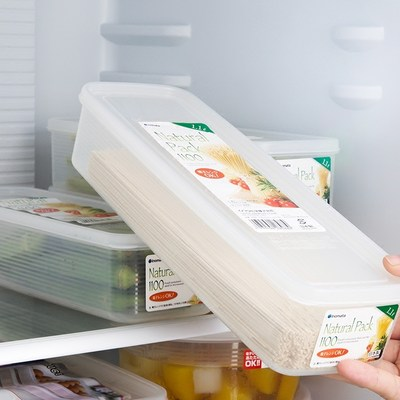 Japan imported kitchen noodles storage box multi-function food storage box plastic seal transparent storage box