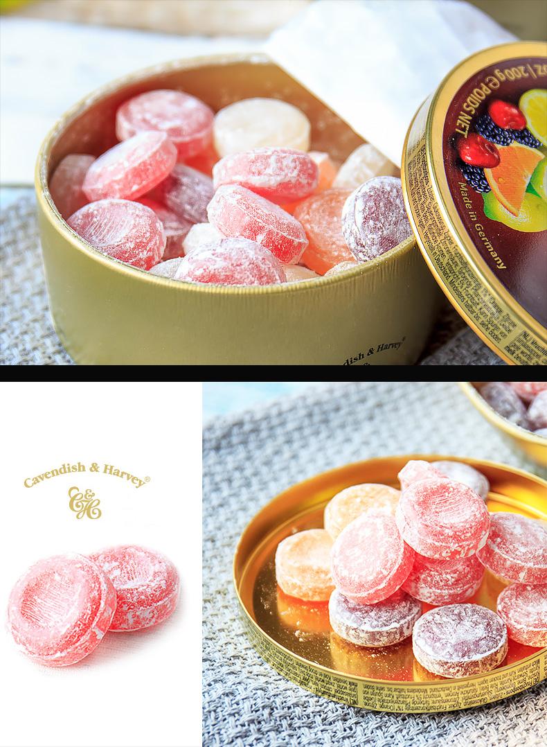 德国进口嘉云糖盒混合水果杂果味喜糖薄荷柠檬硬糖礼物糖果零食详细照片