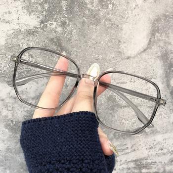 Очки,  Близорукость очки женщина корейская волна большая коробка очки чистый красный прозрачный глаз мужчина может быть оснащен существует степень большое лицо тонкий, цена 1231 руб