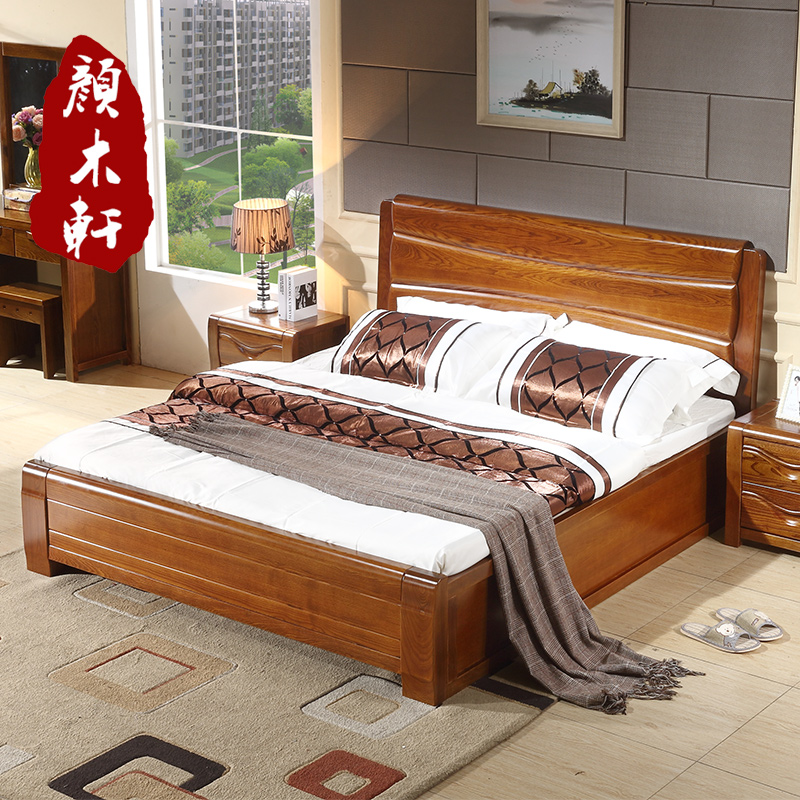 Usd 1495 10 Ash Solid Wood Bed 1 5 1 8 Meters High Box Bed Double