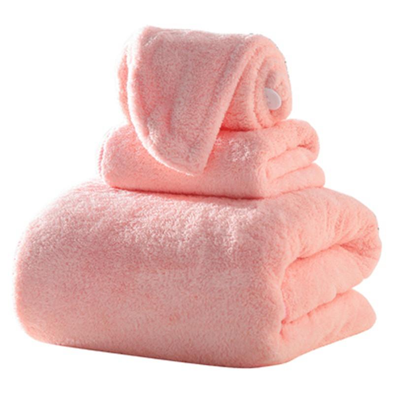 成人吸水浴巾毛巾浴帽三件套加厚