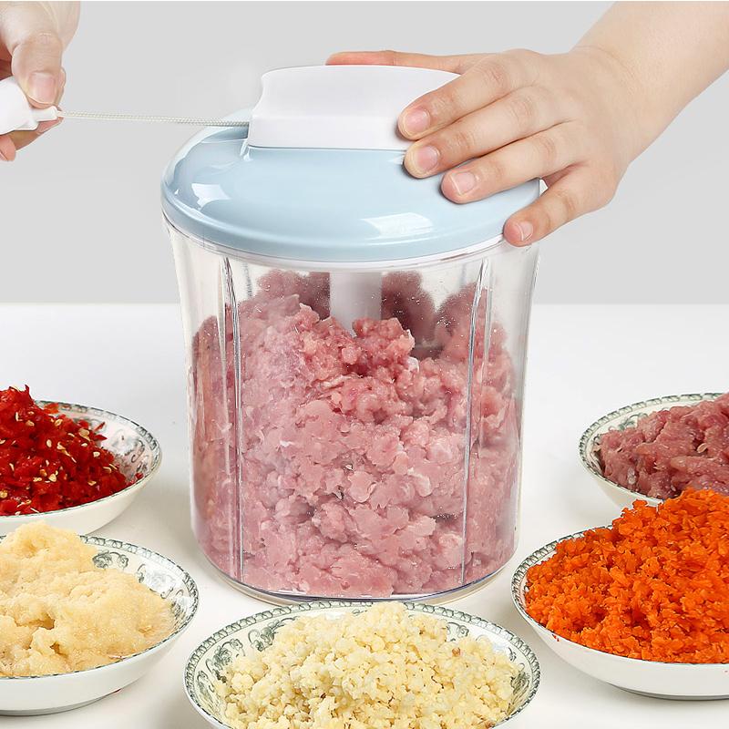 【恒科】手拉手动家用搅拌机绞肉机-优惠5元包邮