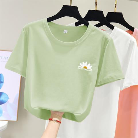 白色短袖t恤女装2020夏季宽松韩版ins潮百搭学生开学季上衣服新款