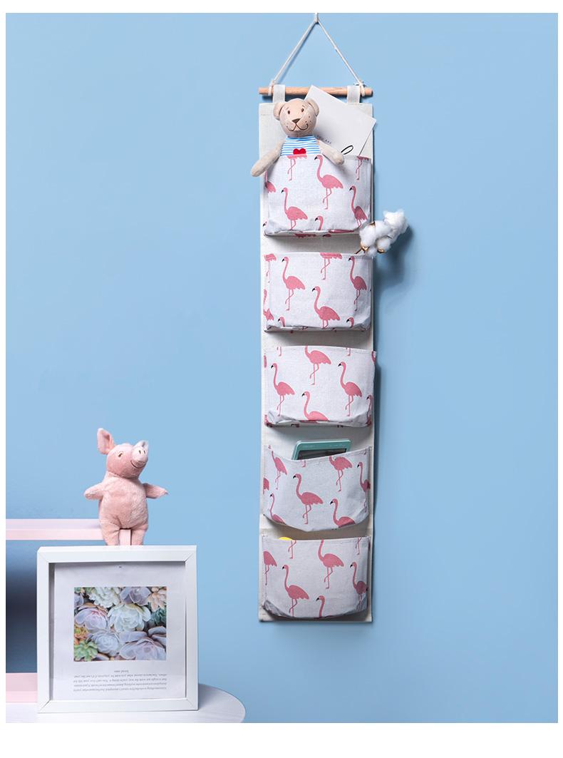 收纳袋子小布袋挂墙置物架上铺壁挂储物袋收纳袋挂袋收纳墙挂式详细照片