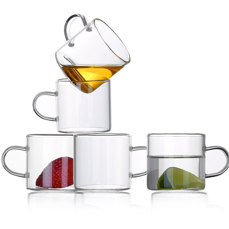 【超值6只装】家用玻璃直把杯100ml
