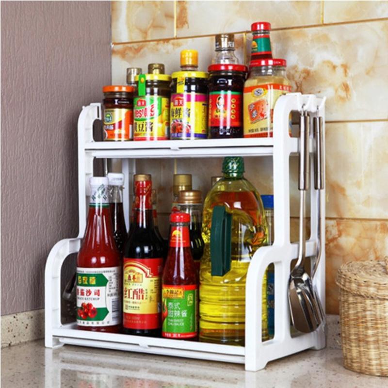 厨房用品放调料作料瓶<font color='red'><b>置物架</b></font>落地2层