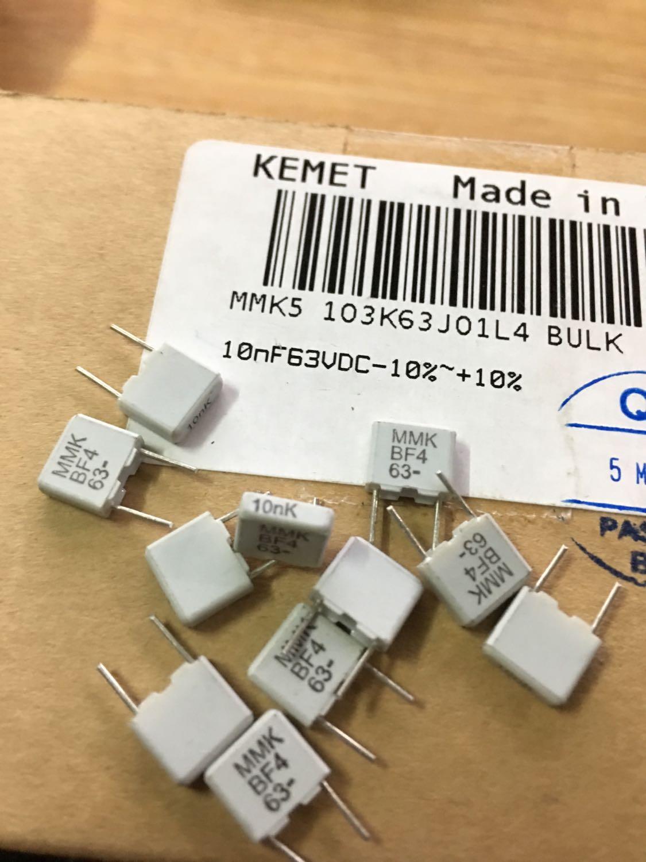 EVOX-RIFA力发 MMK5 63V 10nf 103 发烧薄膜电容 P=5 0.01uf 力发