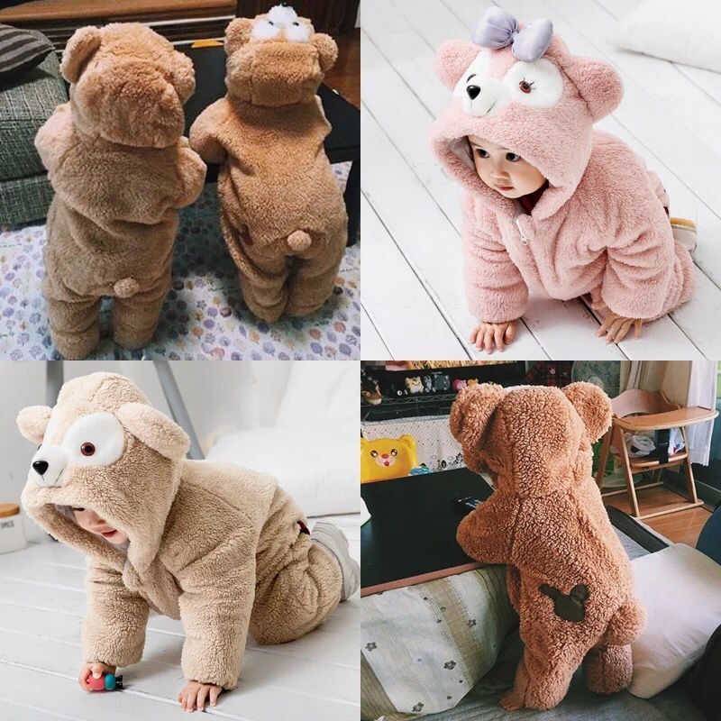 c4355bb49 Baby winter out out clothes animal clothes cute romper baby bears onesies  coral fleece thickening net red - BuyChinaFrom.com - Buy China shop at  Wholesale ...