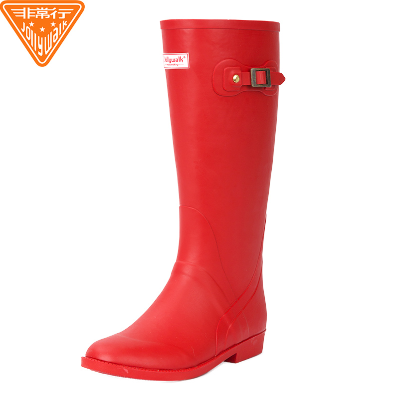 bba9ba45941 Jolly Walk very European and American fashion rain boots ladies rubber high  tube rain boots waterproof · Zoom · lightbox moreview · lightbox moreview  ...