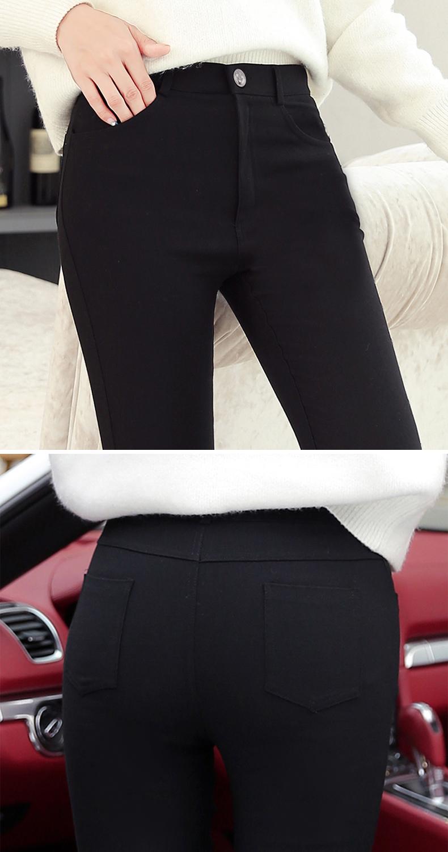 黑色外穿内搭裤女春秋冬加绒铅笔新款高腰显瘦紧身小脚魔术裤详细照片