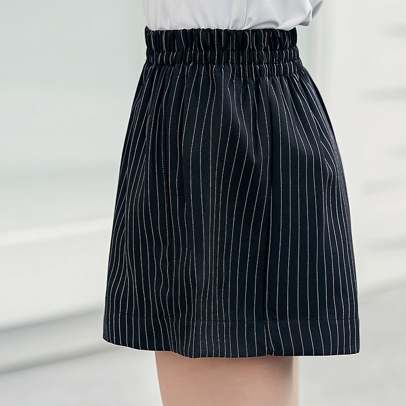 807f74745ed USD 31.89  Suit striped wide leg shorts female summer Korean loose ...
