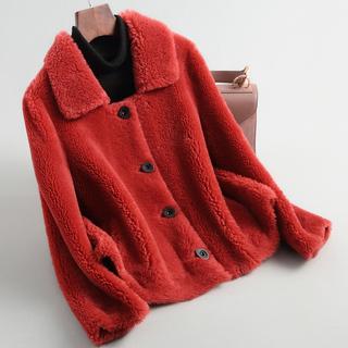 Снег составить овец сдвиг пальто женщина 2018 зимнюю одежду нового модель корейский гранула шерсть целая шкура краткое модель шуба пальто, цена 7959 руб