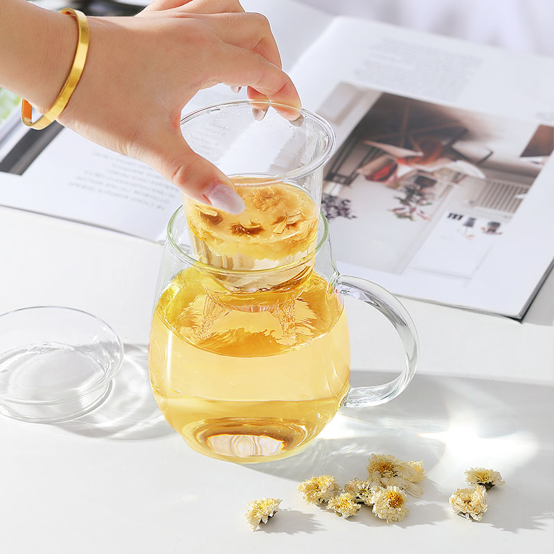 500ml企鹅杯丨玻璃过滤水杯