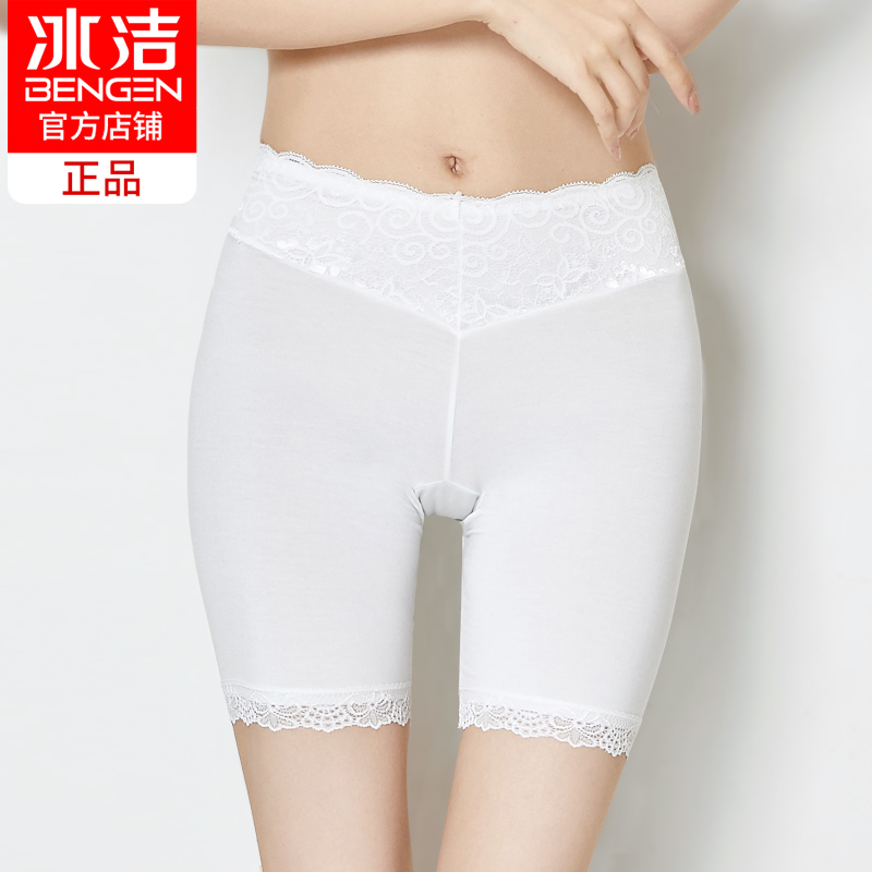 Ice clean lace safety pants anti-light summer leggings women's thin models modal insurance pants high waist elastic shorts