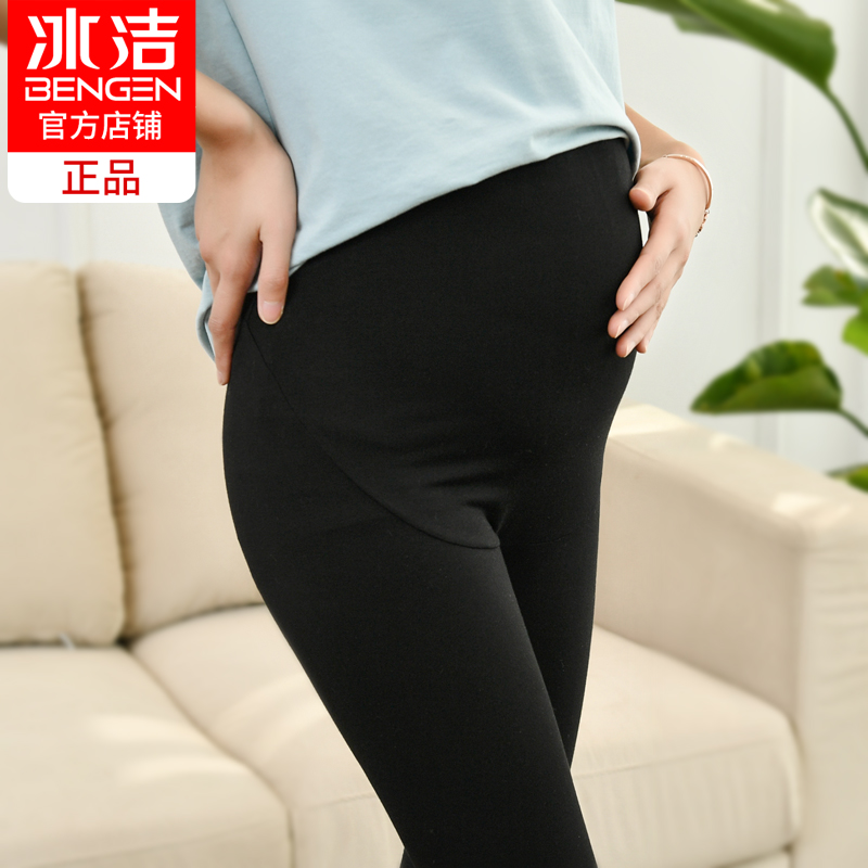 Ice clean pregnant women leggings spring and autumn thin wear pants 2019 new Moder to the belly adjustable pregnant women pants