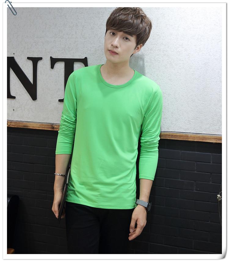 Rắn màu vòng cổ dài tay T-Shirt nam tùy chỉnh Slim cộng với cao đẳng thanh niên hoạt động lớp dịch vụ 9.9 nhân dân tệ vận chuyển bán buôn t shirt skull