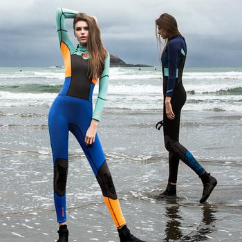 Гидрокостюмы,  1.5MM дайвинг женская одежда солнцезащитный крем теплый сиамский купальный костюм медуза одежда прибой одежда поплавок скрытая длинный рукав ins дайвинг женская одежда, цена 3969 руб
