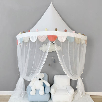 Children's tent play house doll house Nordic stars cotton bed canopy wall decoration baby gift reading corner