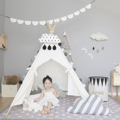 Children's tent play house indoor small tent princess castle baby toy house cotton canvas new year gift