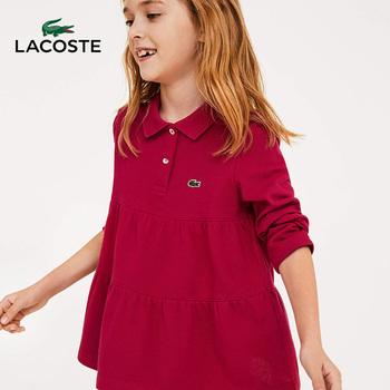 LACOSTE франция крокодил ребятишки осень и зима мода кривляние воздухопроницаемый длинный рукав хлопок POLO короткая женская |PJ9305, цена 6817 руб
