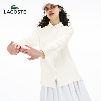 LACOSTE франция крокодил женщины осень и зима мода элегантный твердый свободный случайный рубашка с длинными рукавами женщина |CF5563, цена 9768 руб