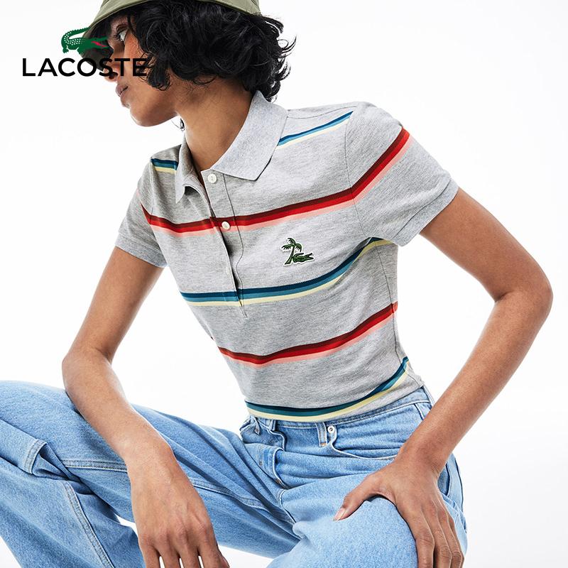 限0码 Lacoste 法国鳄鱼 女式短袖POLO衫 2.2折$27.01 海淘转运到手约¥205 天猫¥926