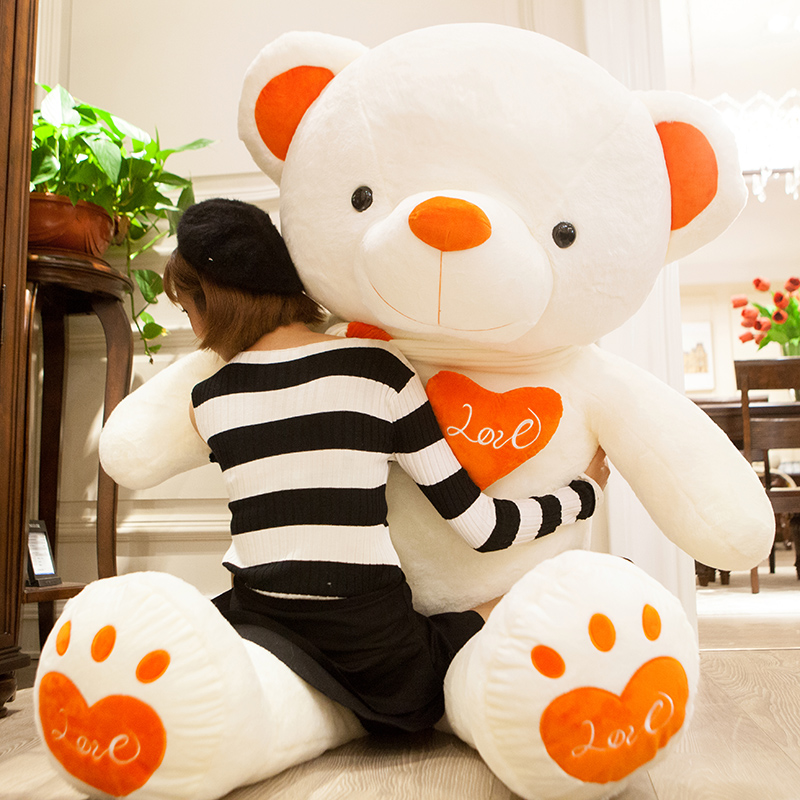 Warm heart bear orange