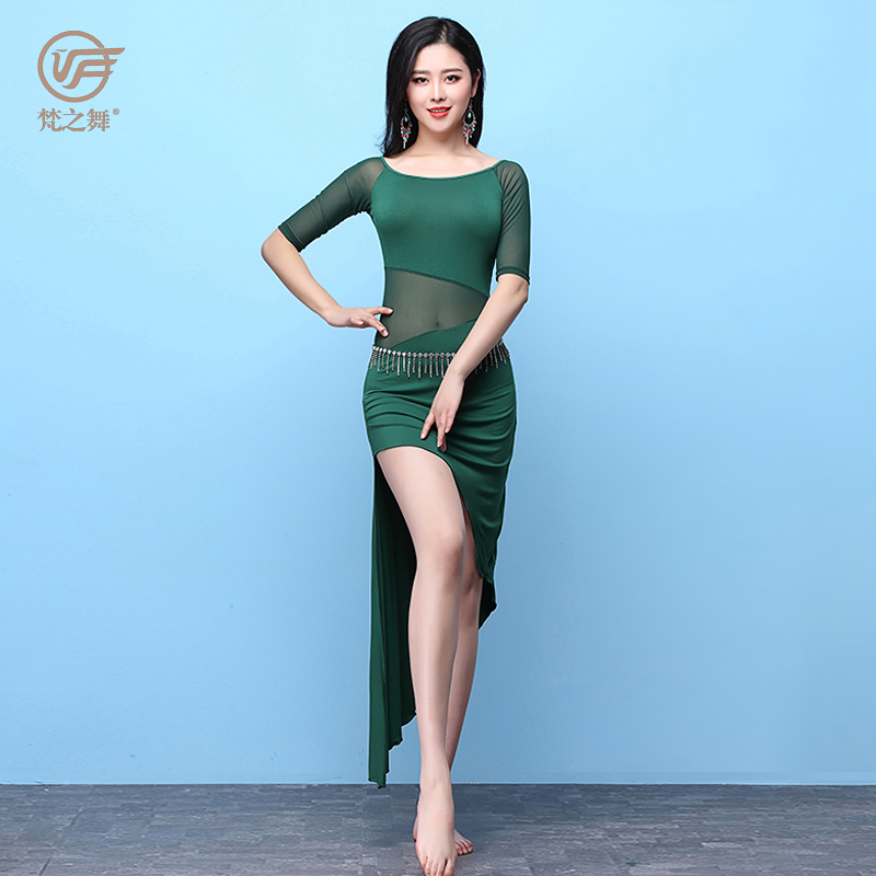 Sexy olive colored dance tops