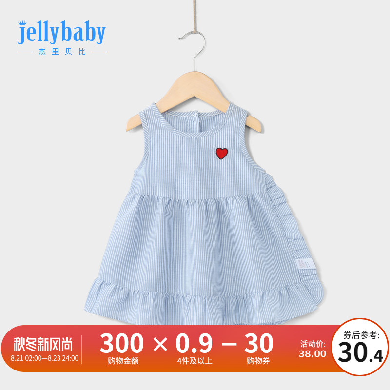 Children's skirt summer Section foreign style cotton 3-year-old female baby vest skirt summer thin section 5 girls sleeveless dress
