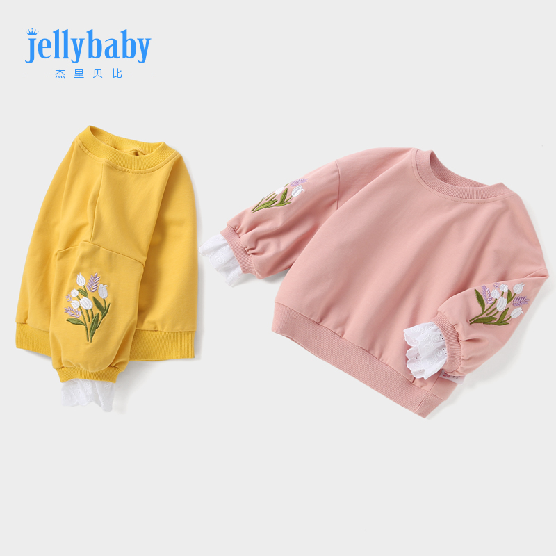 Baby spring top 1-3 year old girl sidon bottom shirt spring and autumn children's spring dress new 6 female baby clothing foreign air