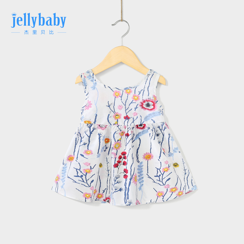 Baby backless dress 3-year-old girl tank top dress summer cotton baby girl Summer Dress 5 baby girl dress