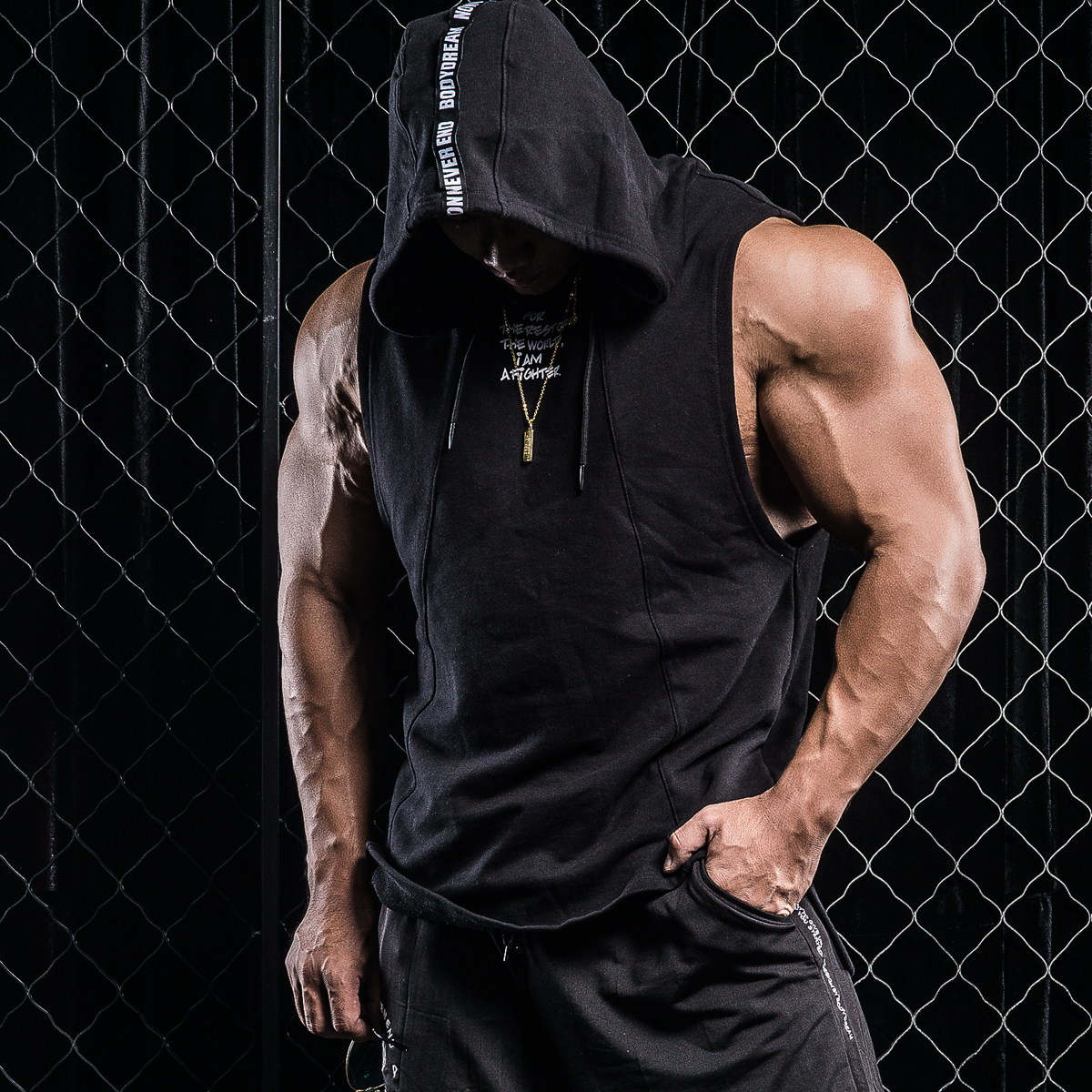 Usd 86 27 Bd Bodybuilding Stand Fitness Sleeveless Hoodie Spring