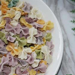 蝴蝶面宝宝面条辅食儿童手工果蔬面彩色鸡蛋无添加七彩营养蔬菜面