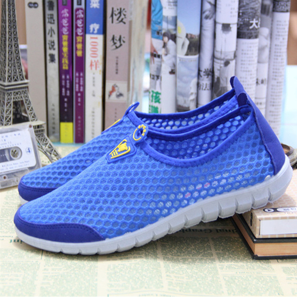 2019 весна женская обувь старый Пекин на плоской подошве Ткань обувь мужские и женские воздухопроницаемый Чистая обувь женский для отдыха Спортивные летние сетчатые туфли