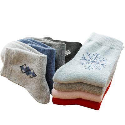 防寒保暖加厚透气男女中筒袜