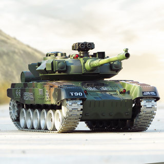 Remote control toy car tank crawler can transmit charging large children's toy boy simulation of the Russian T90