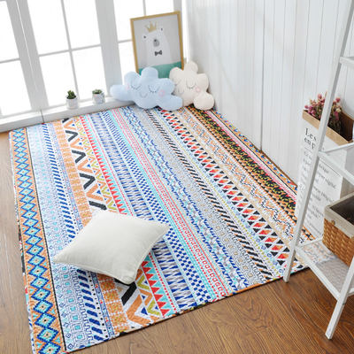 Nordic minimalist cotton full shop crawling tatami mat bedroom carpet bedside mat can be machine washable and can be customized
