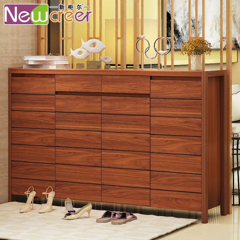New Cabinet Seoul Living Room Entrance Shoe Cabinet Solid Wood Door Large  Capacity Paint Partition Cabinet Dust Door Cabinet Shoe Rack
