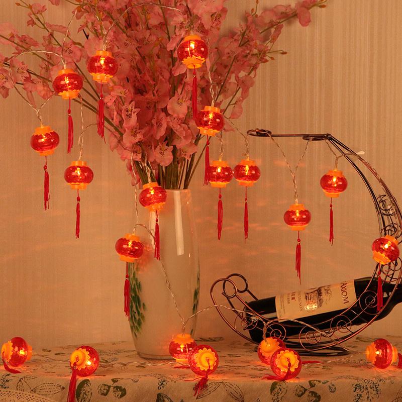 【10个灯】新年装饰水晶灯笼