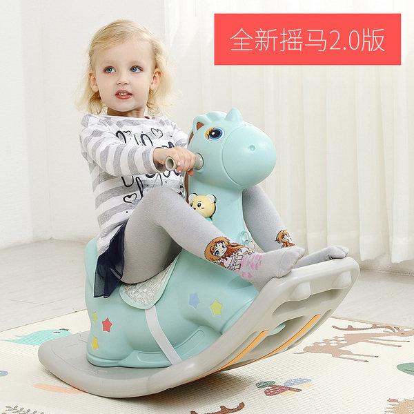 乐智在 儿童木马玩具 天猫优惠券折后¥68包邮(¥98-30)2色可选