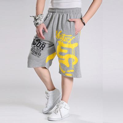 Quần cắt cúp hip-hop quần short thể thao nam size lớn nam chất béo quần lỏng lẻo cộng với chất béo tăng giữa quần quần đi biển - Quần short