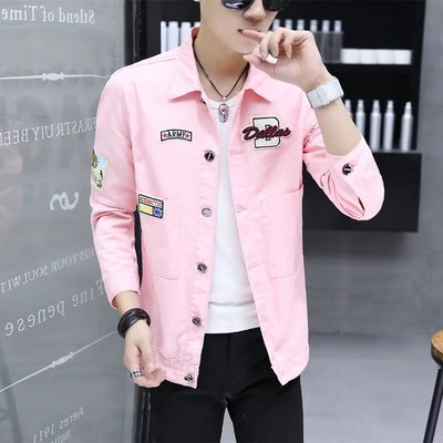 Spring and Autumn denim jacket male autumn 2017 new Korean casual fashion handsome self-cultivation gown men's jacket