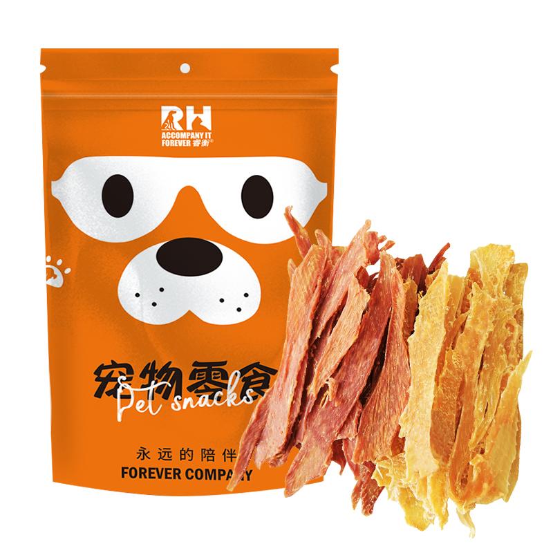 狗狗零食鸡肉干鸭肉干小型犬宠物零食鸡脯肉胸泰迪磨牙棒幼犬400g