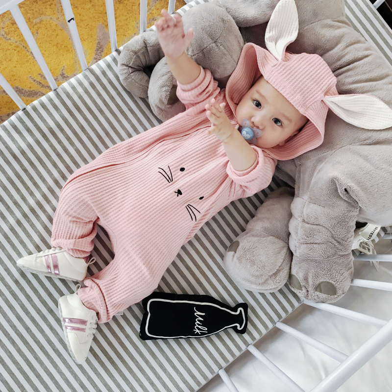 2c2cd2909 Baby onesies spring and autumn 03-6 months cotton newborn hooded romper  6-12 months men and women baby clothes - BuyChinaFrom.com - Buy China shop  at ...
