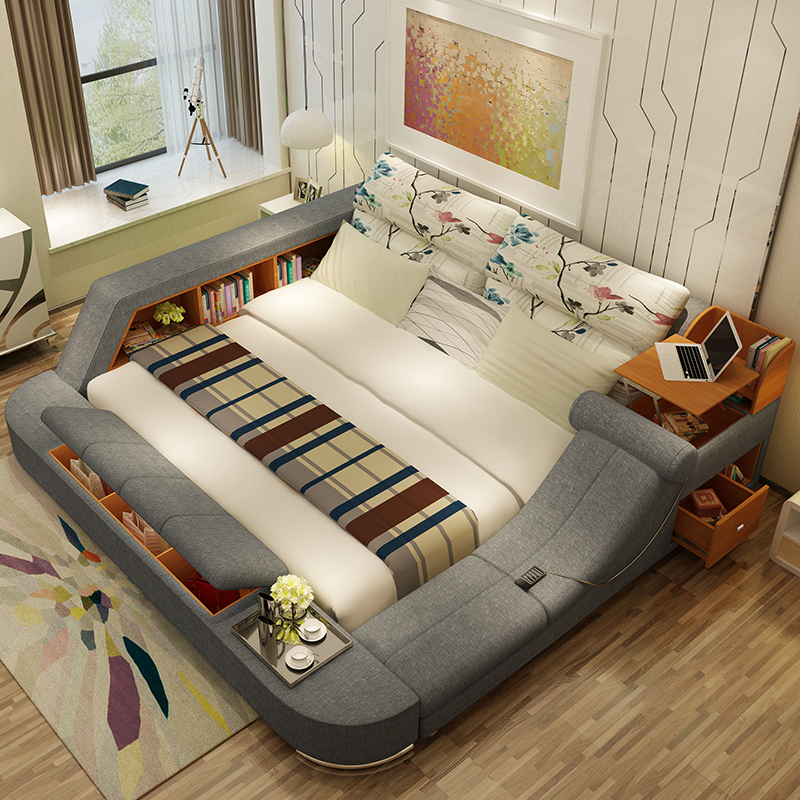 Usd Massage Tatami Fabric Bed Fabric Bed Master Bedroom 1 8 Meters Bed Storage Bed