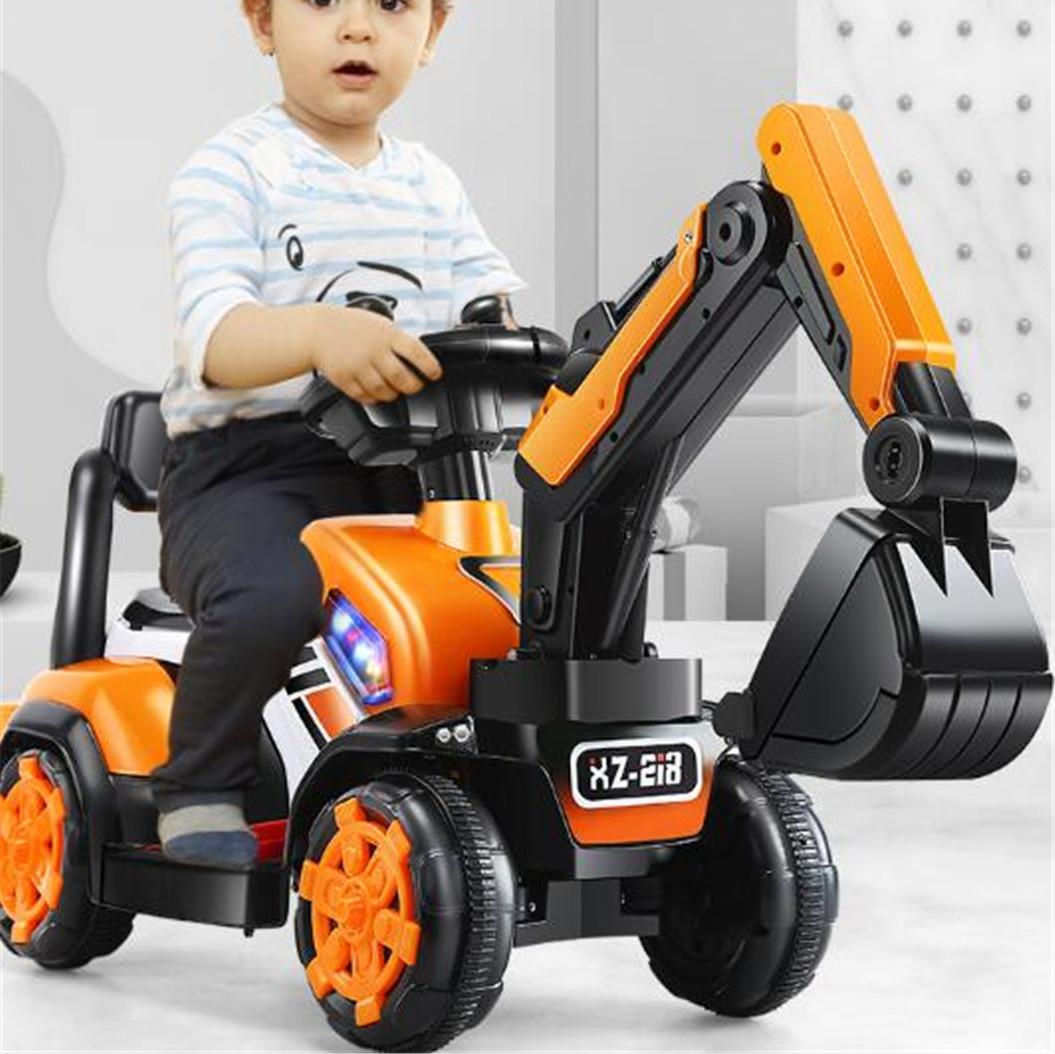 圣运 儿童电动挖掘机挖土机充电玩具车