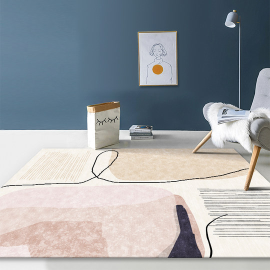 Living room carpet sofa coffee table blanket Nordic ins wind Morandi bedroom girl full room bedside mat