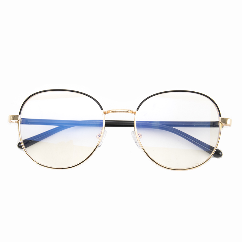 USD 11.70] Dream teacher retro metal big round glasses frame female ...